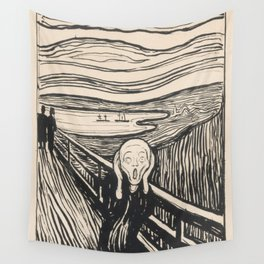 The Scream (1895) by Edvard Munch Wall Tapestry