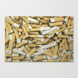 Cigarette butts dirty Canvas Print