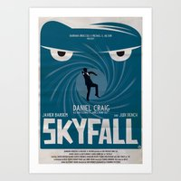 skyfall Art Prints featuring SKYFALL by Alain Bossuyt
