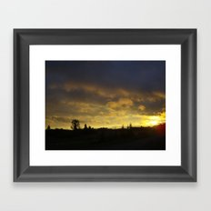 saskatchewan sunset part 2 Framed Art Print