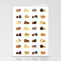 pigs Stationery Cards featuring Guinea pigs by stephasocks