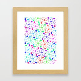 FUN FLOWERS Framed Art Print