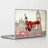 england Laptop & iPad Skins featuring ENGLAND by mark ashkenazi