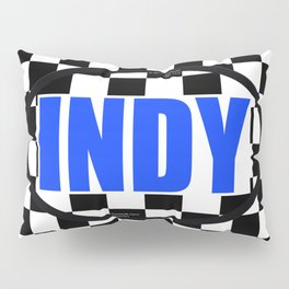 "INDY Oval ""Sticker"" Pillow Sham"