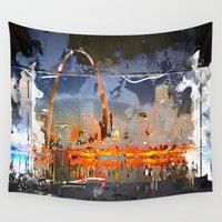 louis Wall Tapestries featuring St Louis by Robin Curtiss