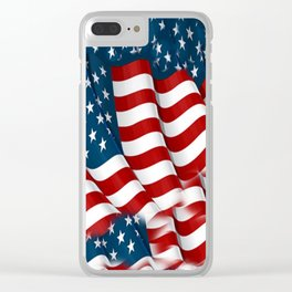 "ORIGINAL  AMERICANA FLAG ART ""STARS N' BARS"" PATTERNS Clear iPhone Case"