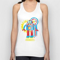 law Tank Tops featuring Asimov's Law by Maggie Davidson