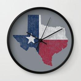Texas Lone Star Vintage Distressed Wall Clock