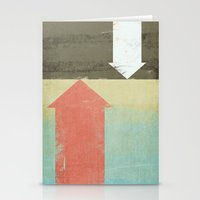 arrows Stationery Cards featuring Arrows by Metron