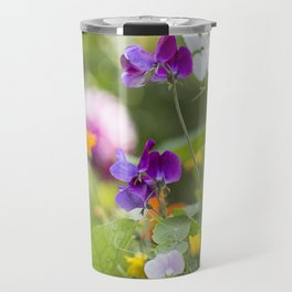 Summer Flowers colorful green meadow Travel Mug