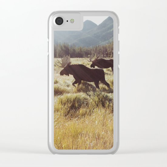 Three Meadow Moose Clear iPhone Case