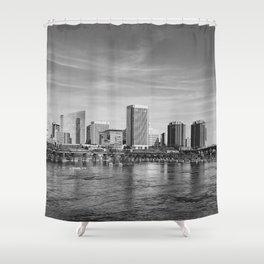 River City Skyline Shower Curtain