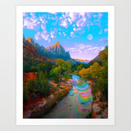 Flowing With The River Art Print