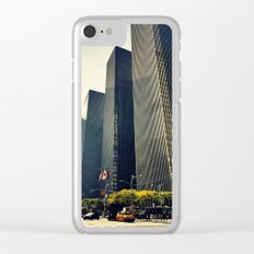 New York xi Clear iPhone Case