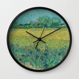 "Vincent Van Gogh ""View of Arles with Irises in the Foreground"" Wall Clock"