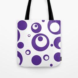 Circles Dots Bubbles :: Grape Juice Inverse Tote Bag