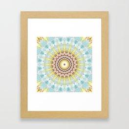 Mandala wintersun Framed Art Print