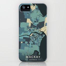 Mackay, Australia - Cream Blue iPhone Case