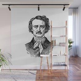 Edgar Allan Poe Wall Mural