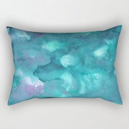 Dreamy Ocean Abstract Painting #2 #ink #decor #art #society6 Rectangular Pillow