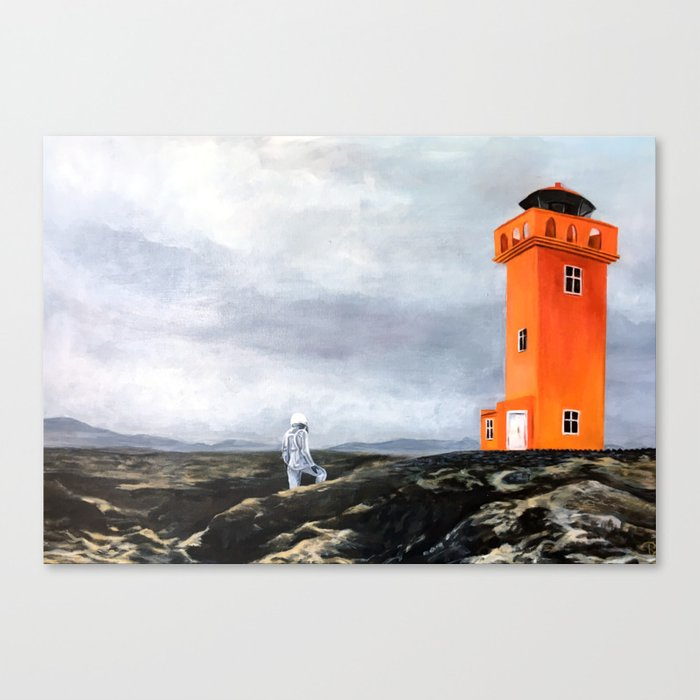 Astronaut in Iceland Canvas Print