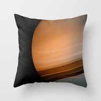 saturn Throw Pillows featuring Saturn by Anne Seltmann