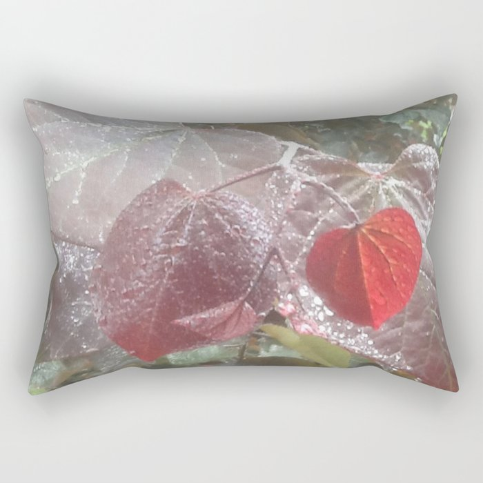 garden in the rain Rectangular Pillow