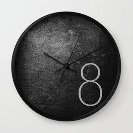 NUMBER 8 BLACK Wall Clock