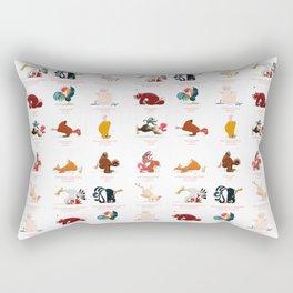 Chicken Yoga Rectangular Pillow