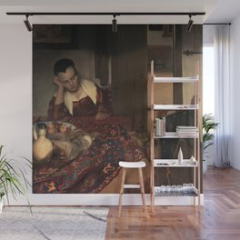 Johannes Vermeer - A Girl Asleep Wall Mural