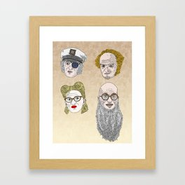 A Series of Unfortunate Events' Count Olaf Framed Art Print