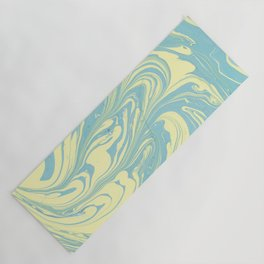 Marble of Yellow & Green Yoga Mat