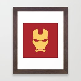 Iron man superhero Framed Art Print