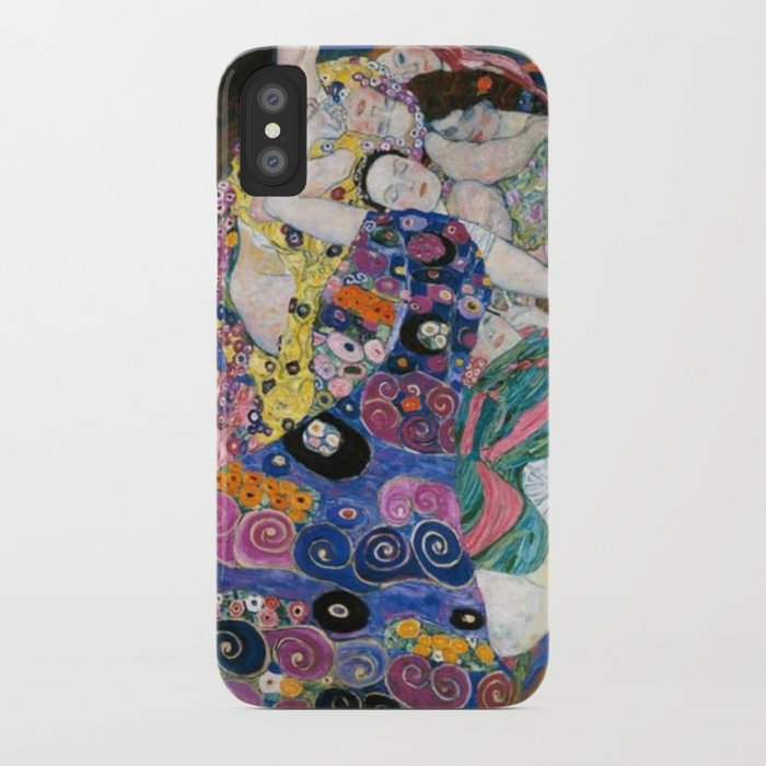 gustav klimt die jungfrauen the maiden iphone case