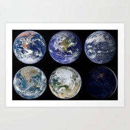 Favorite...Old, New, Aqua, Blue, White or Black Marble? Art Print
