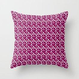 Lattice Pattern (Purple) Throw Pillow