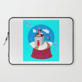 A Winter Wonderland Snow Globe School House Laptop Sleeve
