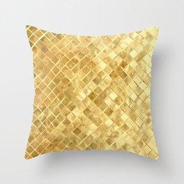 Golden braiding Throw Pillow