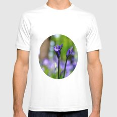 drowning in the bluebell sea MEDIUM White Mens Fitted Tee
