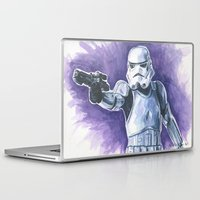 stormtrooper Laptop & iPad Skins featuring Stormtrooper by KristinMillerArt