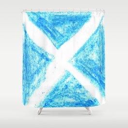 flag of scotland 7– scotland,scot,scottish,Glasgow,Edinburgh,Aberdeen,dundee,uk,cletic,celts,Gaelic Shower Curtain