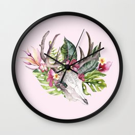 My Bohemian Tropical Memories Wall Clock