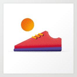 Shoe and Sun Art Print