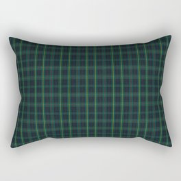 Green and Blue Plaid Rectangular Pillow