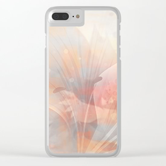 Floral Astract Clear iPhone Case