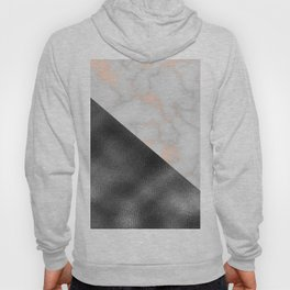 Rose gold marble and gunmetal grey storm Hoody
