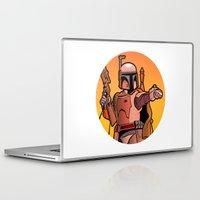boba Laptop & iPad Skins featuring Boba Fire by Ann Van Haeken