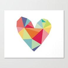 Geometric heart print Canvas Print