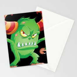 Halloween Monster 3 Stationery Cards
