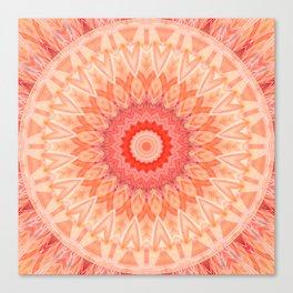 Mandala soft orange Canvas Print